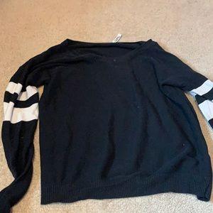 Artizia black sweater with white stripes, size XS
